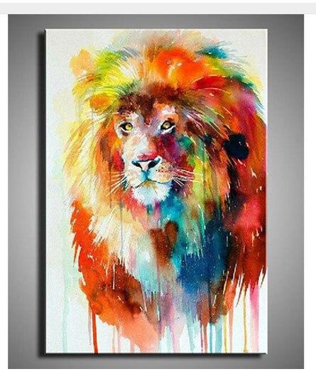 100  handgeschilderd beroemde schilderijen kleurrijke dieren olieverf hoge kwaliteit leeuw