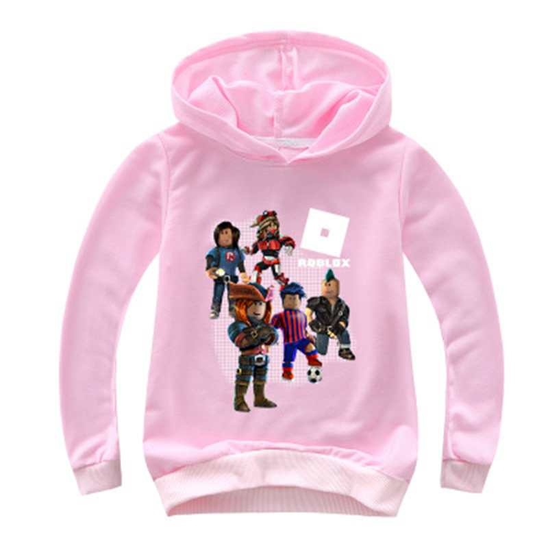 Kids' Clothes, Shoes & Accs. T-Shirts, Tops & Shirts Roblox Girls Boys Cartoon Hooded Tops T-shirt Kids Hoodie Casual Clothes Costume