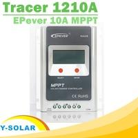 EPsolar MPPT Tracer 1210A Słoneczna Regulator 10A 12 V 24 V Regulator LCD Panel Solarny Regulator Ładowania Baterii dla Max 100 V Wejście