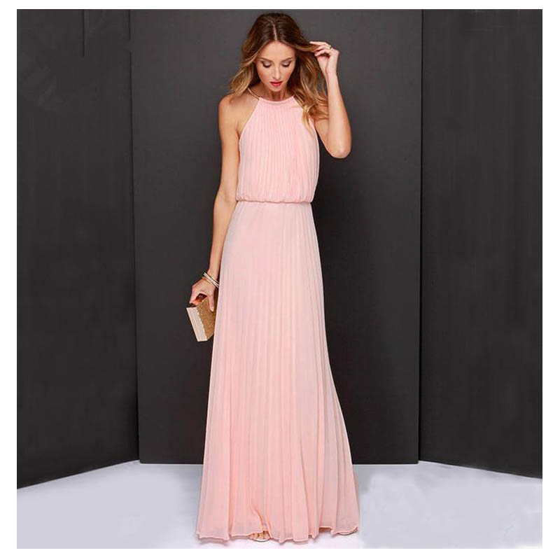 New Pink/Light blue party women long dresses clothes 2015 za Sleeveless Backless Dinner Party ...