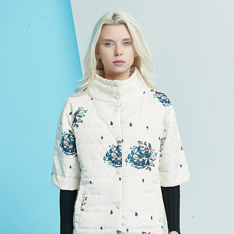 Manteau Courtes Parkas Manches À Chaud D'hiver blanc noir 2018 Femmes Mode Automne De Beige qzytwcAp