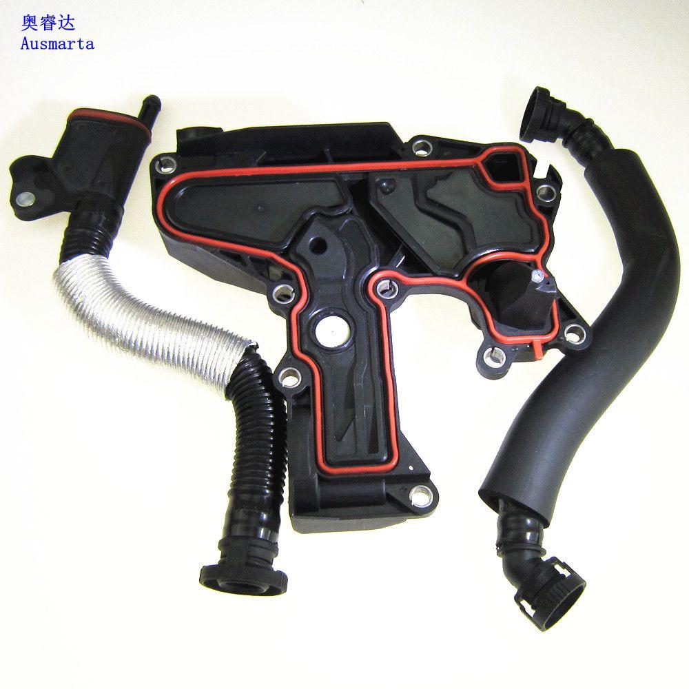 3Pcs 100%  Genuine Oil Water Separator PCV Exhaust Valve + Exhaust Pipe For VW Jetta Golf Gti EOS Passat A4 1.8 2.0TSI 06H103495 denim