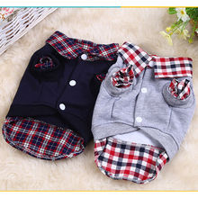 Cute Dog Cat Grid Sweater Puppy Warm Coat T-Shirt Pet Clothes Shirt Tops Dog Leisure Apparel