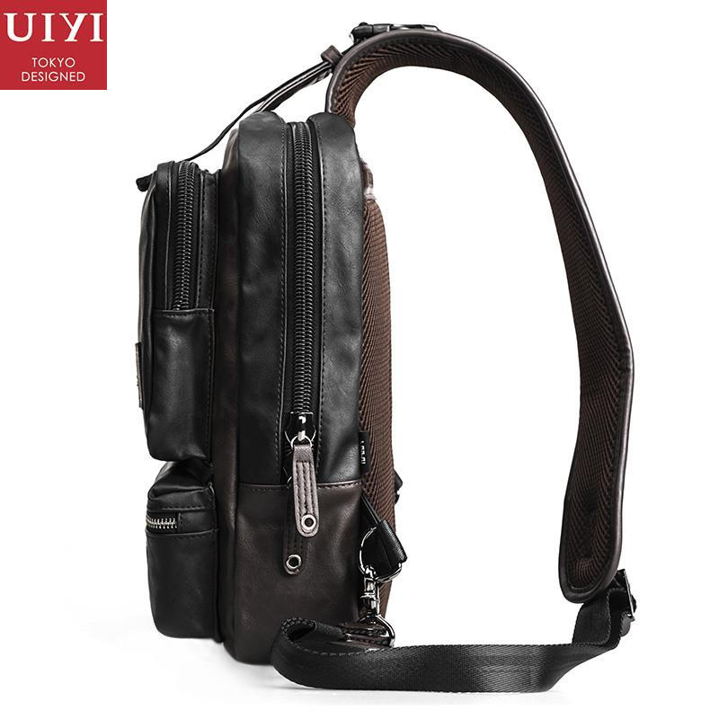 e453cc8906 UIYI Fashion Handbag Men Crossbody Messenger Bag Unique Design PU Leather  Shoulder Chest Pack Sling Satchel Back Bags 140024 on Aliexpress.com