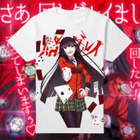 Coshome Anime Kakegurui Zwanghaften Gambler Jabami Yumeko t-shirt Männer Momen T-shirts Erwachsene Kurzen Ärmeln Sommer Tees Tops