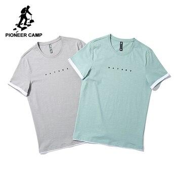 low cost d90a2 a4764 Pioneer Camp mode hit farbe T-shirt männer marke-kleidung dünne sommer T  shirt männliche qualität stretch T-shirt ADT801066