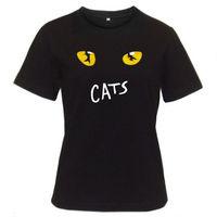 Tshirt Brand 2017 Male Short Sleeve Brand Style Short Sleeve New Cats Broadway Musical Show Designer