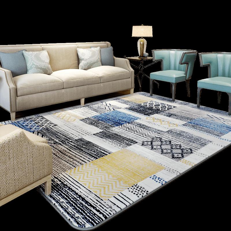 Tapis de Style coréen WINLIFE tapis de motif de fleurs abstraites pour salon/chambre/hôtel tapis de Table de thé Tatami tapis en daim