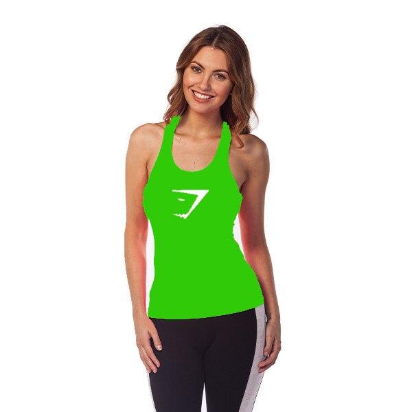 829e31b0d4456 Gymshark Bodybuilding and Fitness Tank Top Women Shark Gym Tops 100% Cotton Sports  Sleeveless Shirts Sexy Clothing