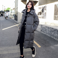 2018 loose thick winter coat women over the knee warm parka female fashion hooded down cotton jacket women plus size coat ladies