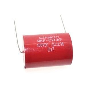 Image 4 - Бесплатная доставка 10 шт. Audiophiler Axial MKP 10 мкФ 400VDC HIFI DIY аудио класса конденсатор для гитарных усилителей