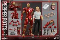 Hot Toys Iron Man 3: 1/6 scale Pepper Potts and Mark IX MK9 Collectible Figures Set