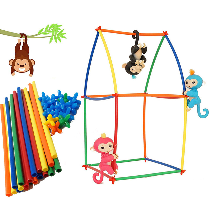 50 PCS Create Playground Assorted Colors DIY Interactive For Fingerlings Monkey Kids Toys For Children Anti Stress Drop Shipping