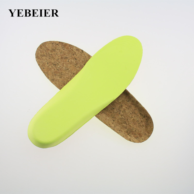 Cork EVA  Honeycomb material  breathable shock absorbant insole for woman or man can be cut платья eva платье