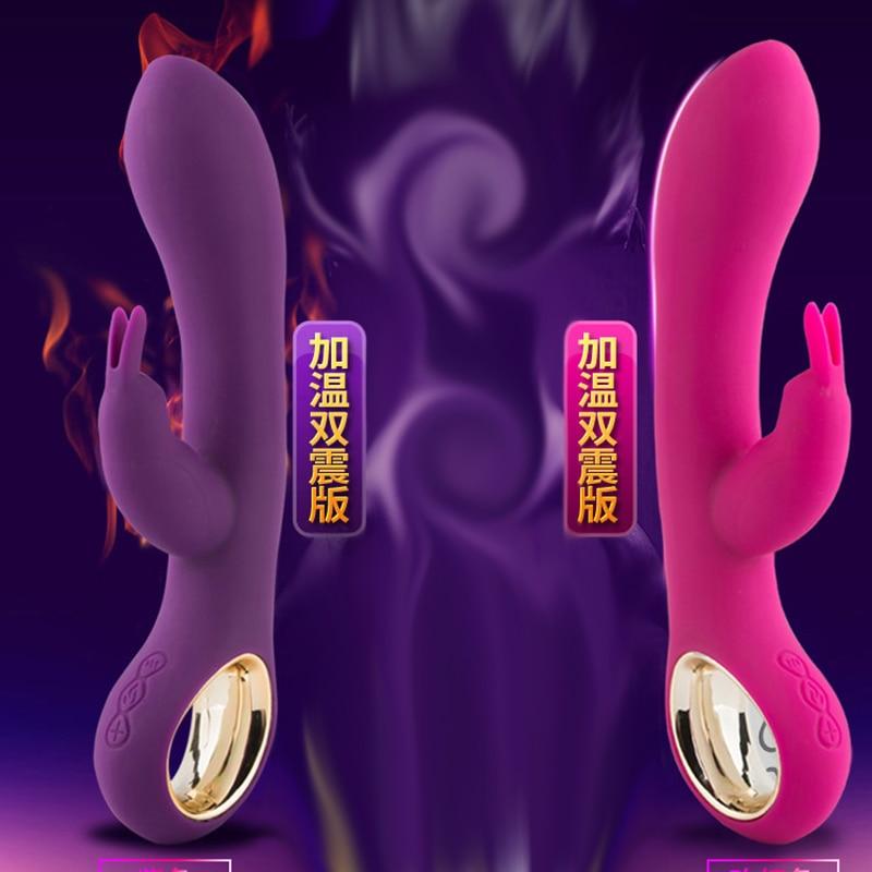 Rechargeable Heating Vibrator sex toy for Woman Rabbit G Spot Vaginal Massage Masturbation Clitoris Stimulation Sex Machine