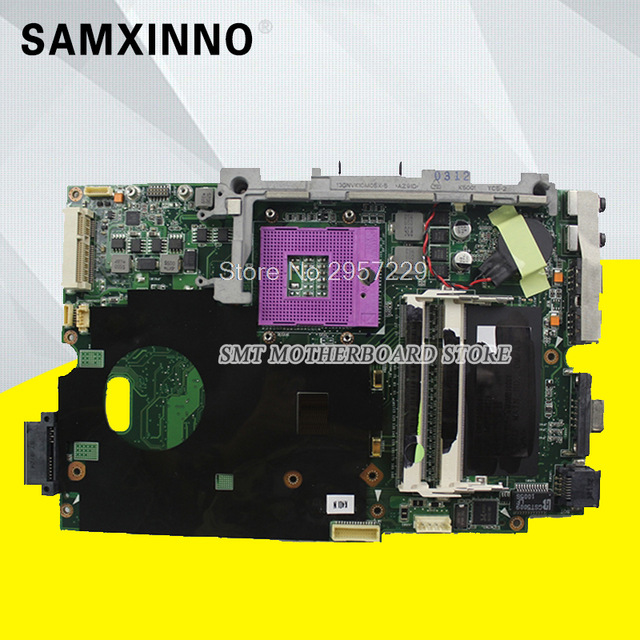 SMT K40IN K50IN Laptop Motherboard For ASUS K40IN K50IN X8AIN X5DIN K40IP K50IP K40I K50I K40 K50 Test Original Mainboard