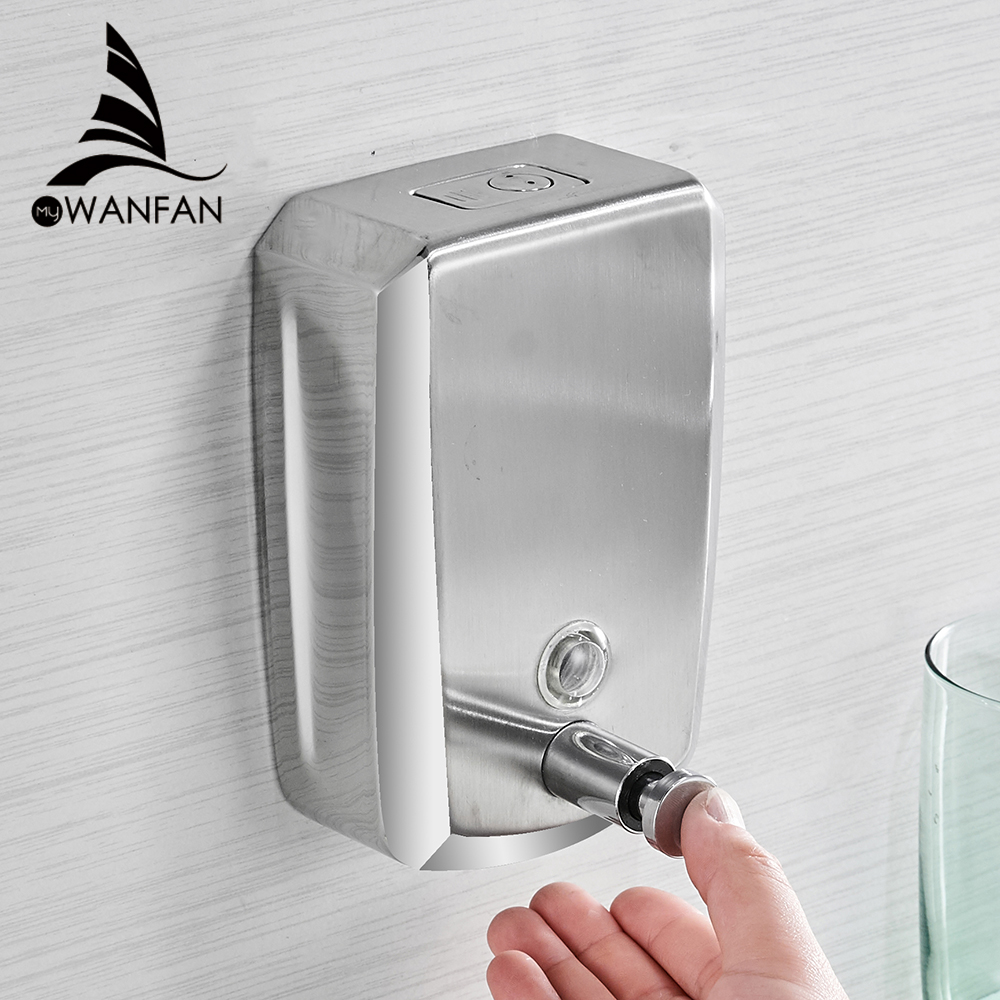 Bathroom Shower Dispensers Us 18 18 50 Off Liquid Soap Dispensers 500ml Wall Mount Dispenser For Soap Modern Bathroom Shower Lotion Shampoo Liquid Soap Dispenser Wf 18022 In
