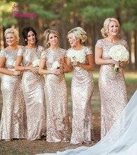 Шампанское лонго блестками длиной выпускного вечера vestido пола свадебное невесты партии