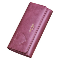Women Long Wallets Genuine Leather Lady Purse High quality Vintage Design