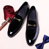 Men Dress Shoes Patent Leather Shadow Fashion Groom Wedding Shoes Men Luxury italian style Oxford Shoes Zapatillas Big Size 48