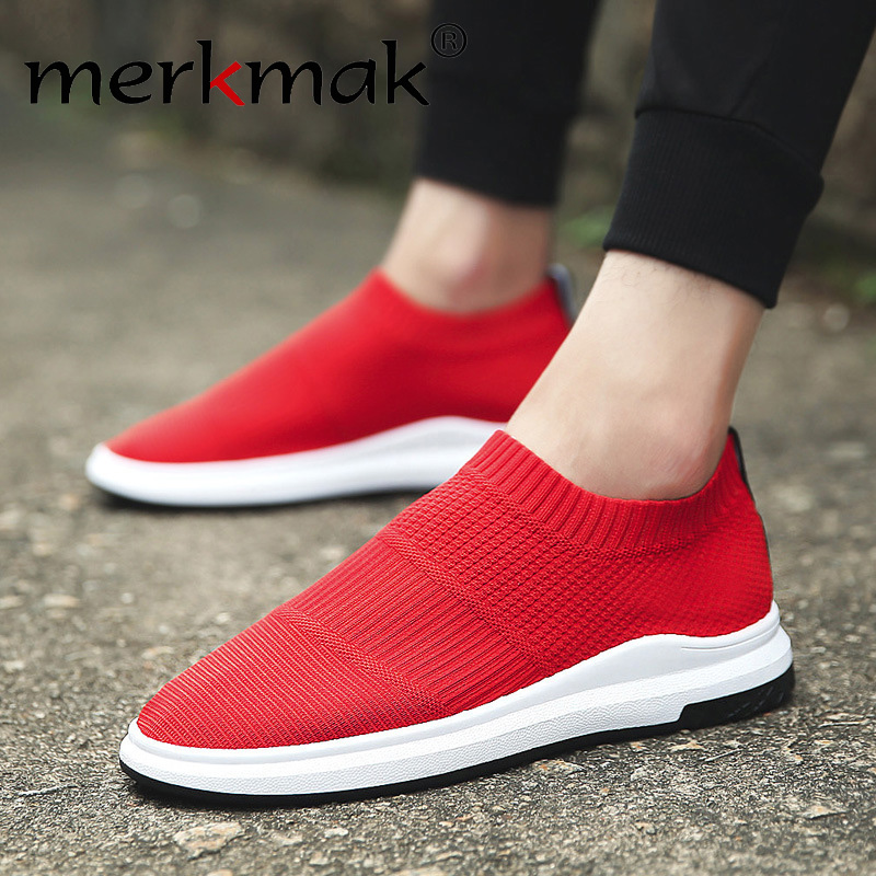 2019 Mesh Casual Shoes Slip on Men Lightweight Shoes Comfortable Breathable Walking Sneakers Thin Footwear Summer Male Flats slip-on shoe
