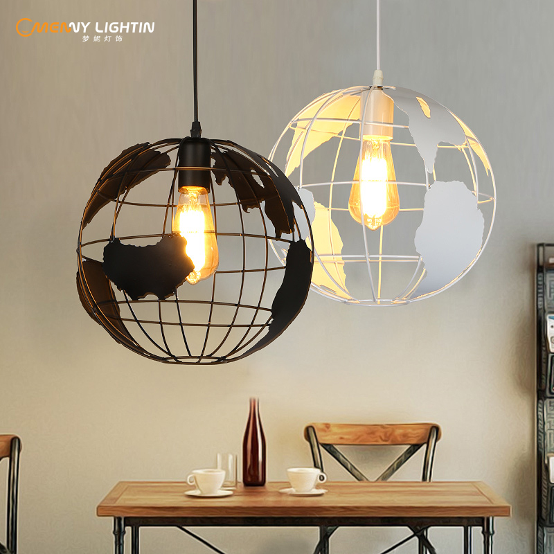 The personality iron globe coffee bar art hall pendant light creative restaurant balcony aisle lighting GY170 retro cafe art chandelier chandelier personality creative restaurant balcony aisle lighting gy170