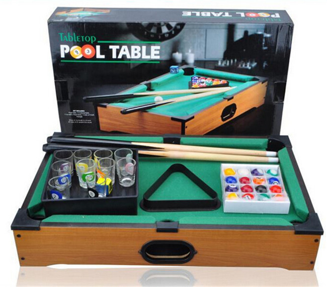 Pool Table Billiards With Cups Home/Bar/Party Board Game Smiles Creation  Mini