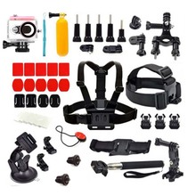SHOOT for Xiaomi Yi Accessories Set Chest Head Strap Monopod Suction Cup Float Grip Waterproof Case for Yi 1080P Action Camera