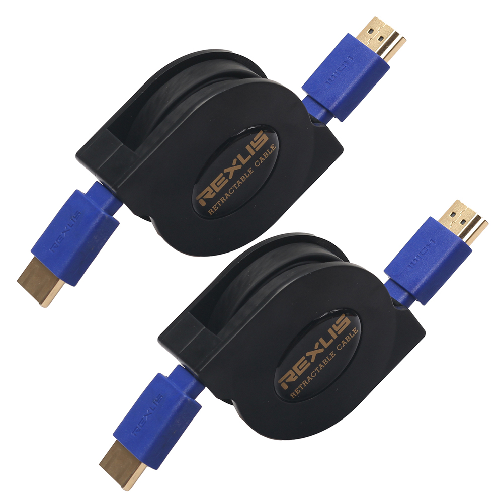 Retractable Flexible HDMI Cable Male to Male V1.4 1080P Full HD 3D For HDTV 1m 1.8m 1080p 3d hdmi male to male flat cable deep pink 180cm