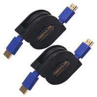 Retractable Flexible HDMI Cable Male to Male V1.4 1080P Full HD 3D For HDTV 1m 1.8m