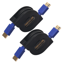 Retractable Versatile HDMI Cable Male to Male V1.four 1080P Full HD 3D For HDTV 1m 1.8m