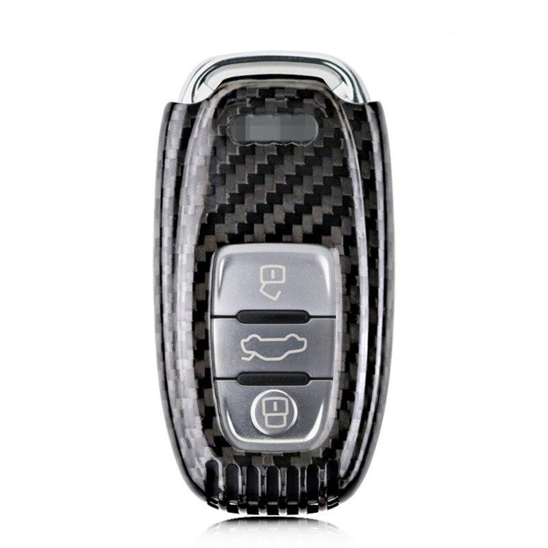 Teeze nouvelle marque de haute qualité nouvelle vraie Fiber de carbone Auto à distance Flip porte-clés titulaire peau coque étui pour Audi série B Style