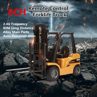 2018 New Forklift Alloy Metal Plastic 1:10 2.4G 8CH M Power Remote Control RC Monster Truck Multi Players Toy RC Tractor Trucks