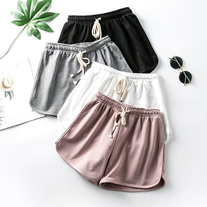 Hot Summer Street Casual Women Short Pants All-match Loose Solid Soft Cotton Female Stretch Shorts