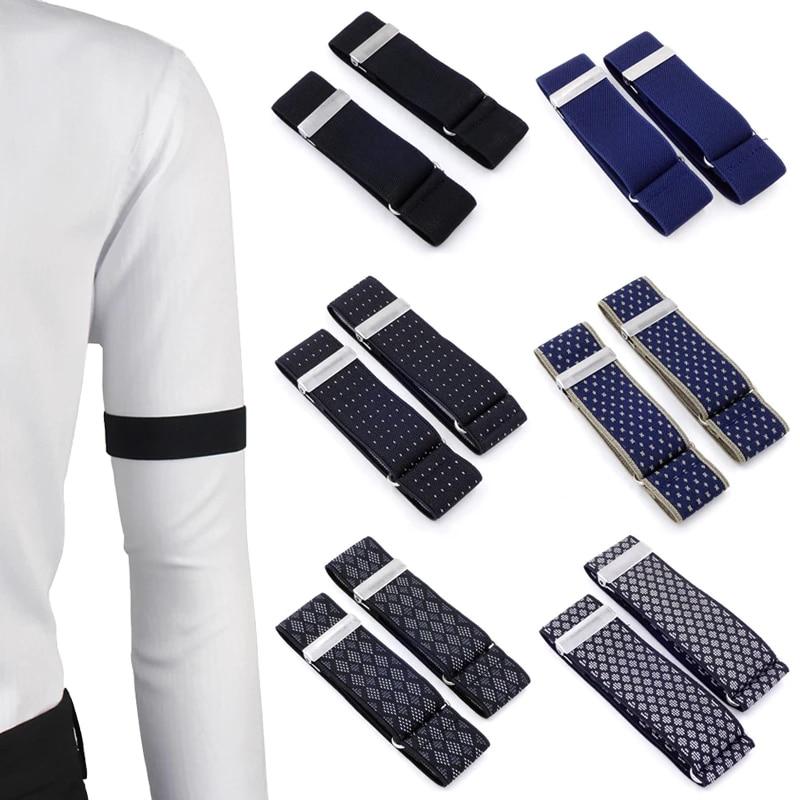 AYOSUSH 2PCS Mens Sleeve Holders Armbands Elastic Shirt Sleeve Garters Bartender