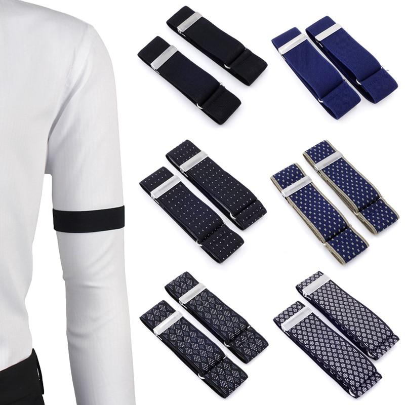 Shirt Sleeve Holders Metal Arm Bands Hold Ups Garter Elasticated Band Men Ladies