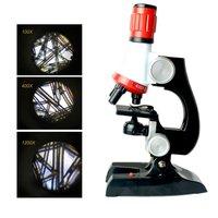 Микроскоп 1200X Zoom Kids Science биологический набор, обучающая игрушка для детей, пластик, изысканный, полезный