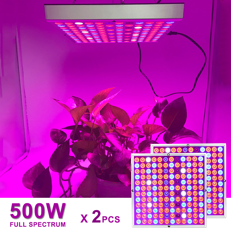 2pcs Full Spectrum 500W 100W LED Grow Light For Plants Indoor Lamp SMD2835 Seed Growing Lights Tent Phyto Fitolampy Growth Lamps