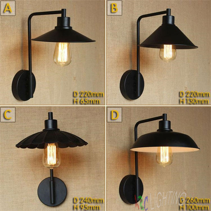 vintage industrial lighting lamp restaurant bar balcony aisle warehouse decorative wrought iron wall lights sconces lampe murale best price american country style retro wall lamp industrial warehouse aisle vintage wall lamps iron balcony bar wall lights