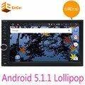 Quad Core Pure Android 5.1 Автомобиль Мультимедийный Плеер Автомобиля Tablet PC двухместный 2din 7 ''Gps-навигация Стерео Радио Bluetooth НЕТ DVD