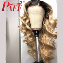 PAFF Lace Front Human Hair Wigs 13x6 Body Wave 1B613 Peruvian Remy Pre Plucked Lace Front Wig With Baby Hair