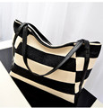 Women's single shoulder bag female canvas handbag patchwork beach bag women shopping bag womens picnic bag