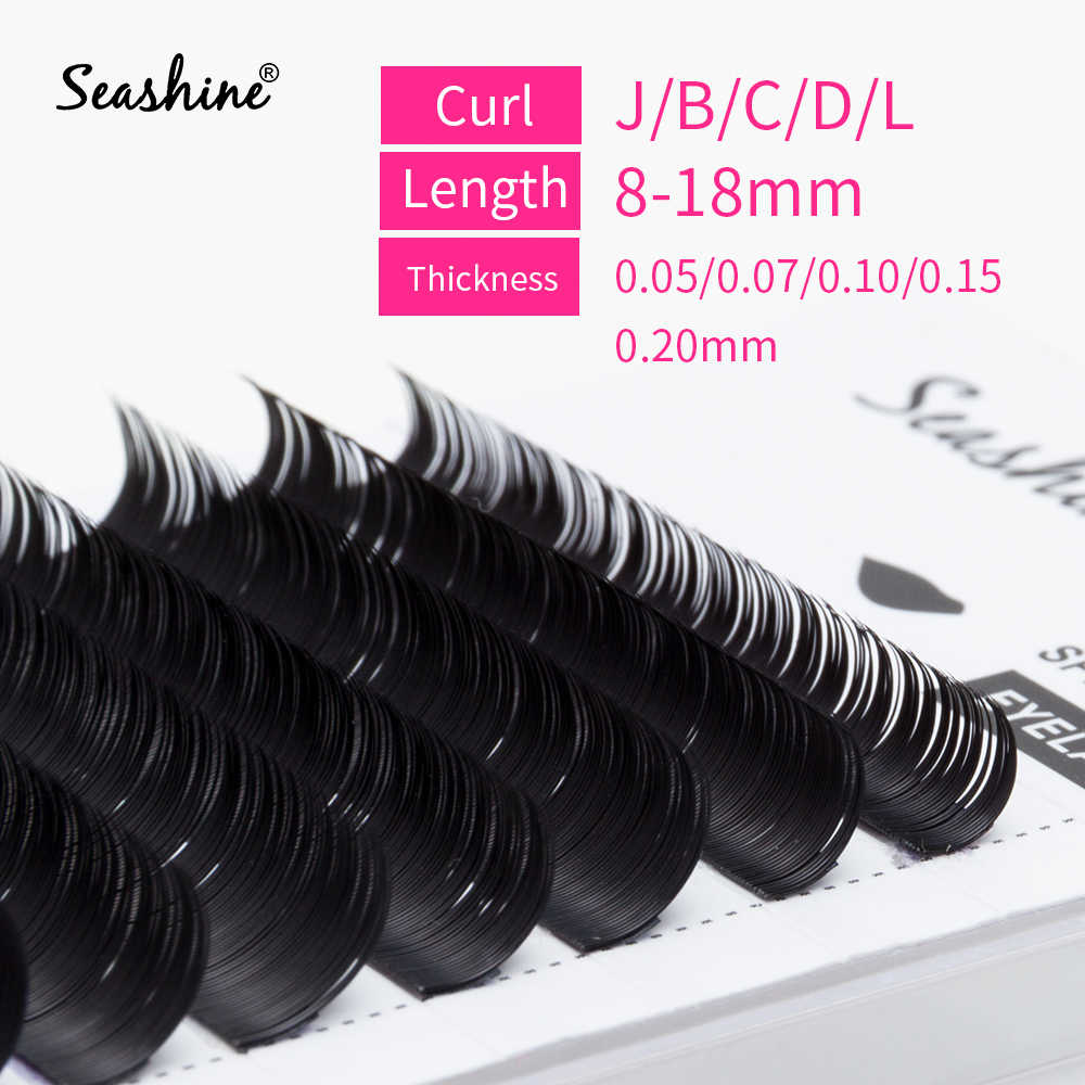 5fb082539fa Seashine 1 Tray Individual Eyelash Extension 8-15mm Single Eyelashes Faux  Mink Volume Eyelash Extension