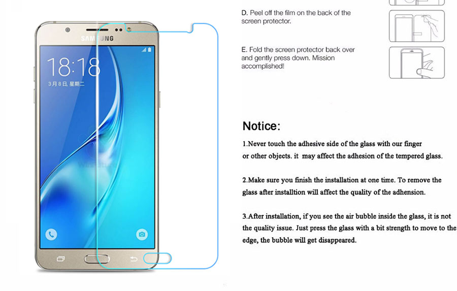 Protective Glass on the For Samsung Galaxy J3 J5 J7 A3 A5 A7 2015 2016 2017 A6 A8 Plus 2018 Tempered Screen Protector Glass Film 7