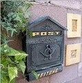 Горячая продажа чугунный почтовый ящик на стену с газетными буквами почтовый ящик уличный почтовый ящик