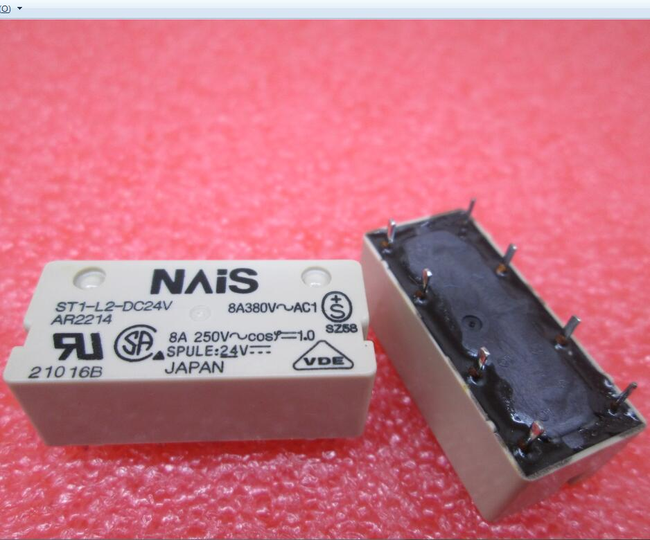 HOT NEW relay ST1-L2-DC24V ST1-L2-DC24V-F ST1-DC24V ST1 L2-DC24V ST1-L2 DC24V  DIP8 new cad50bdc dc24v tesys d series contactor control relay 5no 0nc