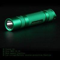 Convoy S2 + xanh Cree XML2 U2-1A EDC Đèn Pin LED Torch Lantern Tự Vệ Cắm Trại Light Lamp cho Xe Đạp
