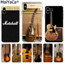 MaiYaCa Love Gibson Guitar Music DIY Painted Beautiful Phone Accessories case for iPhone 8 7 6 6S Plus X XS max 10 5 5S SE XR(China)