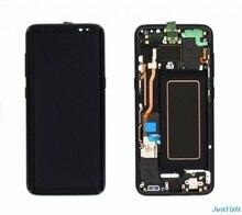 สำหรับSamsung Galaxy S8 S8 PLUS G950 g955 g950f g955f BURN in SHADOWจอแสดงผลLCD Touch Screen Digitizer super AMOLED