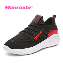 купить Women Running Shoes Flyknit Breathable Sport Shoes Woman Sneakers Damping Summer Outdoor Jogging Shoes Gym Athletic Footwear дешево